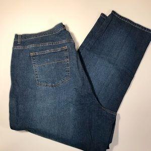 Lane Bryant classic straight leg jeans, size 28